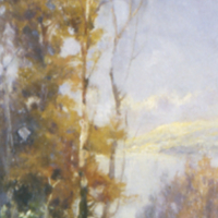 River Scene With Trees