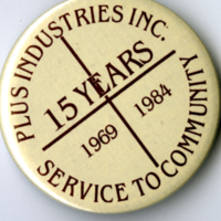 Plus Industries Inc.  15 Years Service To Community