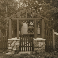 [Gate leading to house on Melfort Research Farm]