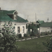 [Houses on Melfort Research Farm - hand coloured]