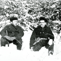 Herb Shaw and Bob Dennison hunting at Prairie River