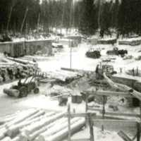 Kendall and Iverson Sawmill on the Birch River, 1965