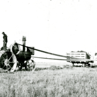 Walter Kendall's threshing machine