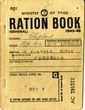 Ration book issued to Grant Oliphant for 1945-1946