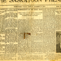 The Saskatoon Phenix Vol. 1 No. 1