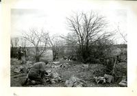 Equipment piled during a rest on route. March. - 1942 Near Farnham Que.