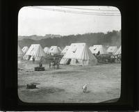 In the British camp in France, mess tents & cooks section