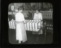 Reeling and lacing silk, preparing skeins for weavers, Paterson, N.J.