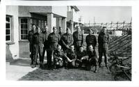 First snap taken overseas at Middleton-on-the-sea Sussex - with 4th C.I.B. Worshop - April 1942