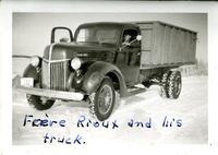 Frere Rioux and his truck