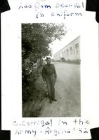 Lad from Beauval in uniform - C. Corrigal in the Army - Regina '42