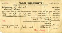 Tax Receipt Local Improvement District 18-B-3 Saskatchewan and envelope