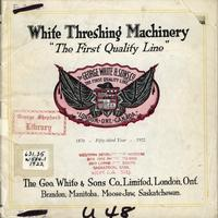 White Threshing Machinery catalogue