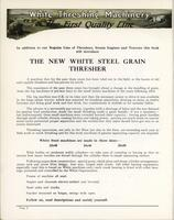 The White Steel Grain Thresher