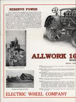All Work tractor pamphlet