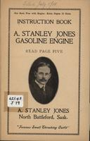 A. Stanley Jones Gasoline Engine Instruction Book