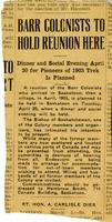 [Barr Colonists miscellaneous newspaper clippings]