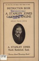 Instruction Book A. Stanley Jones Gasoline Engine