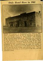 [Miscellaneous newspaper clippings about early Saskatoon]