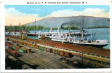 Section of C.P.R. Wharfs and Yards, Vancouver, B.C.