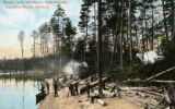 Moose Camp and Shore, Kipawa Lake, Canadian Pacific Railway