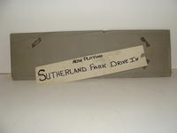 "Advertising board #1 - ""Now Playing Sutherland Park Drive In"" sign"