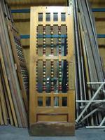 Glazed door with decorative woodwork #1