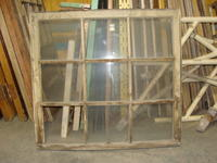 Wooden window with nine glazed panels