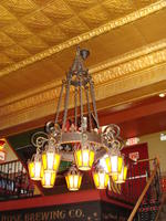 Chandelier - yellow glass