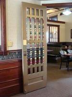 Glazed door with decorative woodwork #5 and #6