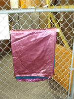 Drapes - light purple with dark green backing - panel #2