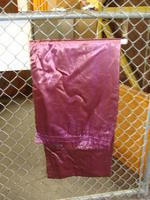 Drapes - light purple with dark green backing - panel #3
