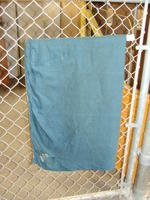 Drapes - gold with dark green backing - panel #1