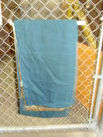 Drapes - gold with dark green backing - panel #3