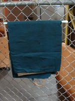 Drapes - gold with dark green backing - panel #4