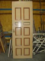 Green and beige door