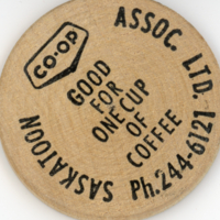 Co-op round wooden coupon (back)