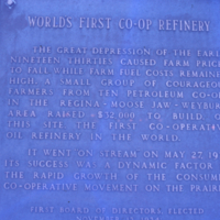 [Co-op Refinery plaque]