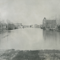 [Flooded town]
