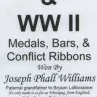 Boar War WW I & WW II Medals, Bar and Ribbons
