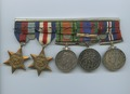 [Five war medals]