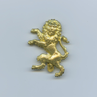 [Golden lion pin]