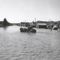 Eastend , Sask, flood, Apr. 15-16, 1952 Main Street looking West