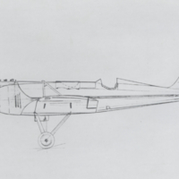 Airplane drawing design by K.O. Neste. (1912-1935)