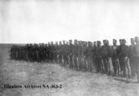 "Infantry School Corps ""C"" Company and ""A"" Battery Canadian Militia."