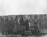 Poundmaker and First Nations individuals who were later hanged, taken at Battleford, Saskatchewan