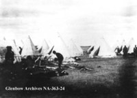 Militia camp after the battle of Fish Creek, Saskatchewan.