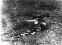 Body of the Metis sniper who killed Captain John French at Batoche, Saskatchewan.