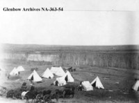 Louis Riel's prison camp at Guardapuis' Crossing on the South Saskatchewan.