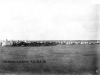 Militia camp at Fish Creek, Saskatchewan.